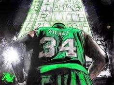 Nice Art Piece Of Paul Pierce Probably My Favorite Celtic Ever Celtics