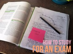 How to Study for an Exam. Don't multitask or study in bed. Keep a designated work area, and begin studying for any test at least three days before the exam.