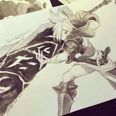 #inktober2015 #leagueoflegends #rivenleagueoflegends #riven #day9