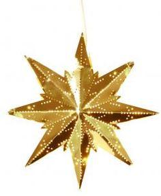 Star Trading / Plechová závesná hviezda Brass Branches, Led, Lampe Decoration, Christmas Time, Christmas Ornaments, Bella Rose, Mini, Messing, Seasons
