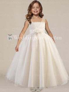 Beautiful Ball Gown Organza Flower Girl Dress with Sash Fl191 alison's favorite