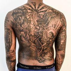 Archangel Saint Michael slaying Demon- back tattoo For man and guy Heaven Tattoos, Love Tattoos, Unique Tattoos, Hand Tattoos, Tattoo Mafia, Back Tattoos For Guys, Back Piece Tattoo Men, Turtle Tattoo Designs, Russian Tattoo