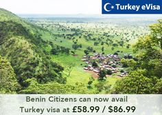 #turkeyevisa Visa fees for #Benin £58.99/$86.99 includes evisa-turkey-tr.org's service charge of 18 pounds + #government fees.