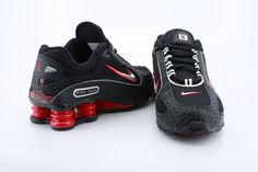 1f52c98f5558 Mens Nike Shox Monster Black Red - Click Image to Close