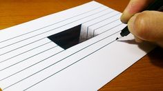 Very easy! How To Draw A Hole For Kids – Anamorphic Illusion – Trick Art On … - Optical Illusions 3d Art Drawing, 3d Drawings, Realistic Drawings, Drawing Tips, Hole Drawing, Drawing Ideas, Illusion 3d, Illusion Drawings, Cool Illusions