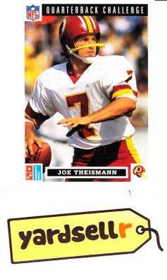 Vintage Upper Deck Joe Theisman Washington Redskins Sports Stars, Washington Redskins, Upper Deck, Aunt, Make Me Smile, Sexy Men, Baseball Cards, Vintage, Man Candy Monday