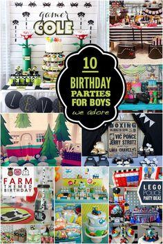 Gorgeous Birthday Parties for Boys