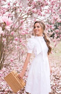 ShopStyle Look by galmeetsglam featuring Gal Meets Glam Collection Hanna Puff Sleeve Cotton Poplin Dress Fashion Line, Modest Fashion, Fashion Dresses, Glam Dresses, 90s Fashion, Fashion Clothes, Style Fashion, Womens Fashion, Spring Look