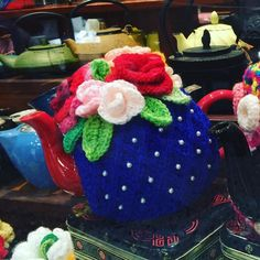 How cute is this #teacosy ?  Found it while walking through Brisbane Arcade. #tea #crochet #brisbaneanyday