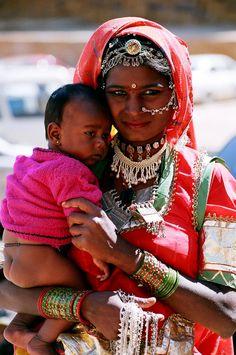 jeune madone inde  Jaisalmer, Rajasthan,