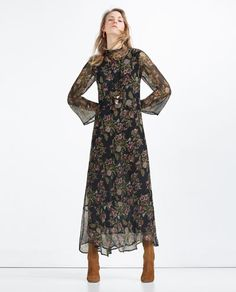 LONG DRESS WITH FLORAL PRINT-View All-DRESSES-WOMAN | ZARA United States