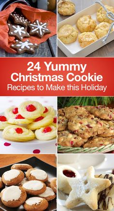24 Yummy Christmas Cookie Recipes including Rolled Sugar Cookies, Grinch Cookies, Gingerbread, Mint, Glazed Apple, Spritz Butter Cookies, Snowball Cookies, Pumpkin, Candy Cane Blossoms, Snowmen, White Chocolate Cranberry, Cinnamon, Pecan, Cheesecake, Shortbread, Ginger, Red Velvet Snowflake, Egg Nog, and more!
