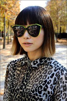 Fabulous sunglasses and leopard print. Streetstyle