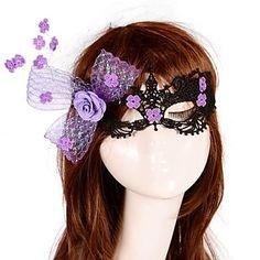 EUR € 7.38 - Personnalité européenne de style arc de dentelle masque fleur de partie, livraison gratuite pour tout gadget!