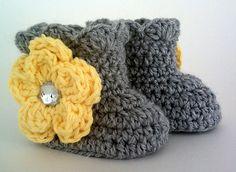 Ravelry: Crochet Baby Ruffle Flower Boots pattern by Jack & Jill Baby