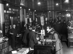 An inside peek at Mudie's lending library in 1910. -- 30 Vintage Photos of People in Libraries | Mental Floss