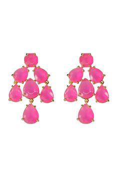 Hot Pink Kate Spade Chandelier Earrings