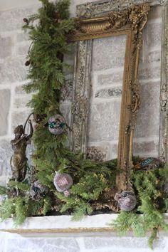 It's Christmas Time *** !*** It's Christmas Time***! Country Christmas Trees, French Country Christmas, Christmas Mantels, Noel Christmas, Rustic Christmas, Vintage Christmas, Christmas Wreaths, Christmas Crafts, Outdoor Christmas