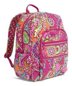 Look at this #zulilyfind! Pink Swirls Campus Backpack #zulilyfinds Vera Bradley  $54.99 from 109.00
