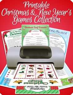 Printable Christmas & New Year's Games Collection - Funsational.com