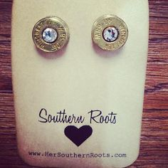 I got these for Christmas and I love them!  One of the coolest gifts ever!! Bullet Earrings With Swarovski Crystals.