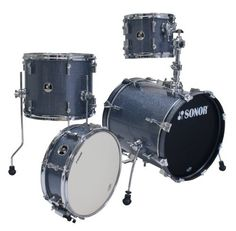 Sonor Drums SSE 12 SAFARI C1 BGS 4-Piece Drum Set with Black Galaxy Sparkle Finish by Sonor. $339.99. The Sonor Safari is a very portable 4-piece drum set that brings out the best in your drumming. The compact size, combined with the uncompromising commitment by Sonor to sound quality makes Safari the perfect kit for practice, rehearsals, gigs and sessions. Play it live and pack it up with ease. The Sonor Safari drums are made from select basswood and this shell set (ha...