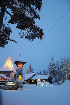 Santa Claus Village at the Arctic Circle in Rovaniemi, Lapland - Finland