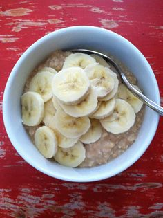 Peanut Butter Banana Oatmeal! One of my Favorite Breakfast and only 5 Weight Watcher Points Plus!