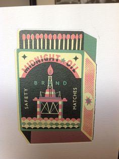 Tom Frost Retro Illustrations, Matchbox Art, Storyboard, Frost, Printing, Art Prints, Wood, Sleeve, Cards