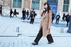 Camel Coat Street Style via Street Peeper