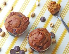 Chocolate Chip Nut Butter Muffins