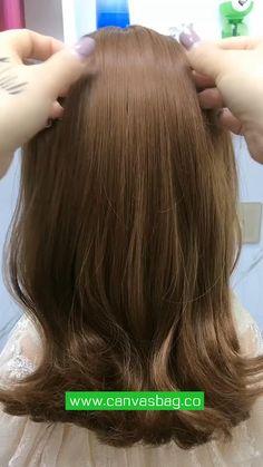 Bun Hairstyles For Long Hair, Work Hairstyles, Front Hair Styles, Medium Hair Styles, Hair Style Vedio, Hair Tutorials For Medium Hair, Hair Cleanser, Hair Videos, Hair Hacks