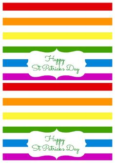 Free St Patrick's Day Printable for Treat Bags