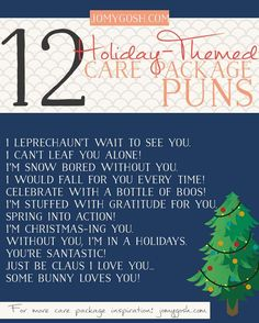 holiday care package puns!