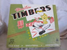 Vintage Miniature Timbers Building Logs in Box 1960's Toy | eBay
