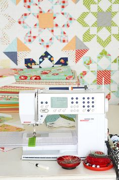 Tips on sewing half-square triangles by Camille Roskelley