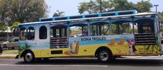 KONA TROLLEY -- Ride the open air Kona Trolley. Not only is it a fun way to experience Alii Drive, it's also a green strategy that reduces traffic. Convenient shuttle stops from Keauhou along Alii Drive and in and around Historic Kailua Village hit all the favorite beach and shopping stops. Riding the Kona Trolley costs just $2. Complete schedule is available online at www.historickailuavillage.com