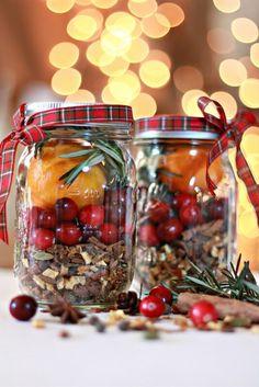 Weckgläser DIY für Weihnachtsgeschenkideen-Glühweinmischung selber machen