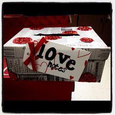DIY valentine box   xoxo