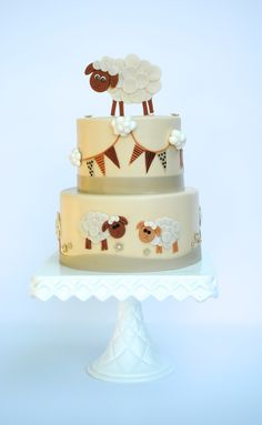 Cake topper is gumpaste.  I was given a picture to...