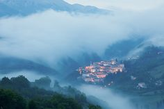 The village of Preci pre-dawn with…. mist of course in Umbria, Italy © Hans Couwenbergh Photography