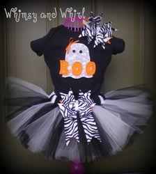 Halloween Boo tutu outfit