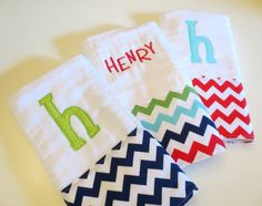 Hey, I found this really awesome Etsy listing at http://www.etsy.com/listing/154374265/baby-shower-gift-set-of-3-chevron