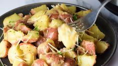 The best Instant Pot potatoes ever. These delicious potatoes are so easy to make in your Instant Pot and are loaded with Ranch Seasonings and Parmesan cheese. Impress everyone with this delicious recipe. Ranch Potato Recipes, Easy Potato Recipes, Side Recipes, Instant Pot Potato Recipe, Instant Pot Dinner Recipes, Easy Dinner Recipes, Best Vegetarian Recipes, Healthy Chicken Recipes, Cooking Recipes