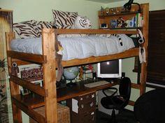 Como Construir uma cama para loft com uma escrivaninha