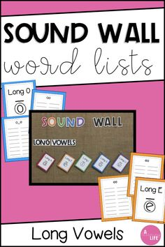 Sound Wall Cards or Portable Word Wall: Long Vowel Patterns Writing Resources, Teaching Resources, Teaching Ideas, Portable Word Walls, Sound Wall, Literacy And Numeracy, Spelling Patterns, Word Work Activities, Little Learners