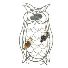 Filament Design Sundry 15.75 in. Metal Owl Wine Bottle Holder in Grey-717974 - The Home Depot