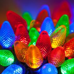 We love this colorful and bright Christmas lights