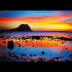 Coucher de soleil à Case Noyale, ile Maurice. Sunset in Case Noyale, #Mauritius island.