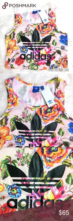 3ba75b9abf7 Adidas x Farm Floralita Floral Crop Tank Top Brand new with tags, Women's  size Small